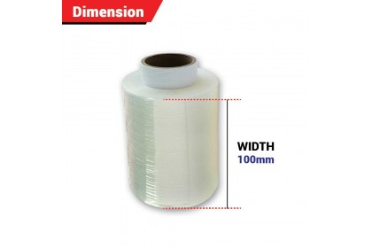 100mm Clear Mini Stretch Film/ Wrapping Firm (300g X 1 Roll)