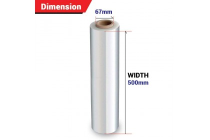 500mm Clear Stretch Film/Wrapping Firm/Plastic Pallet Wrap (1.8Kg X 1 Roll)