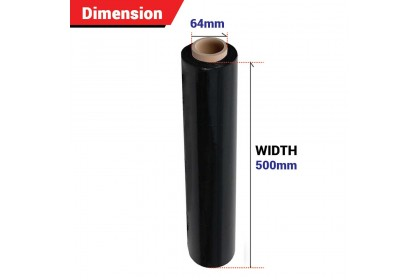 500mm Black Stretch Film/Wrapping Firm/Plastic Pallet Wrap (2.3Kg X 1 Roll)