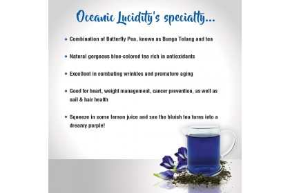 TG Tea Butterfly Pea Flower Infusion Tea / Cold Brew Tea – Oceanic Lucidity 75g (3g x 25s)